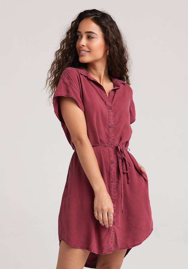 Cranberry Ruffle Dress