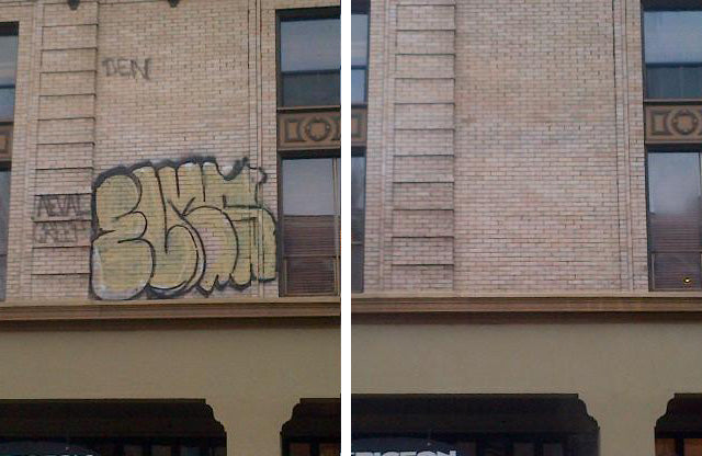 Bare Brick Graffiti Remover