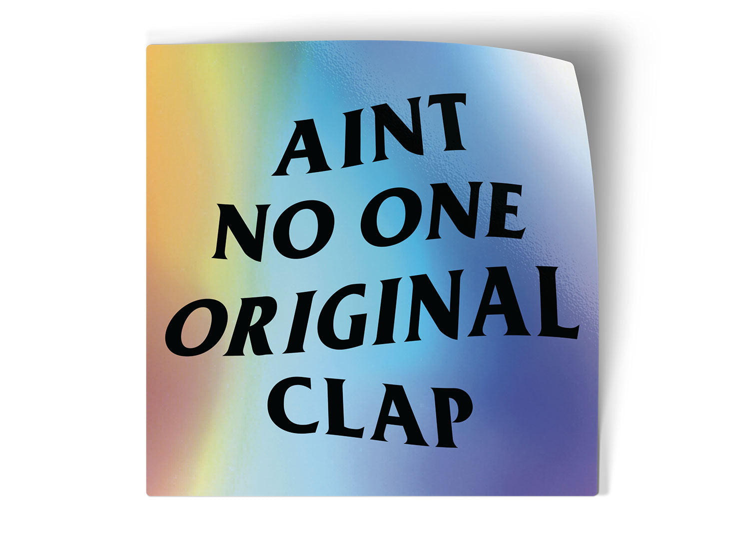 logic limited corp anti social social club parody aint no one original clap basic design bitches boring funny dumb sticker