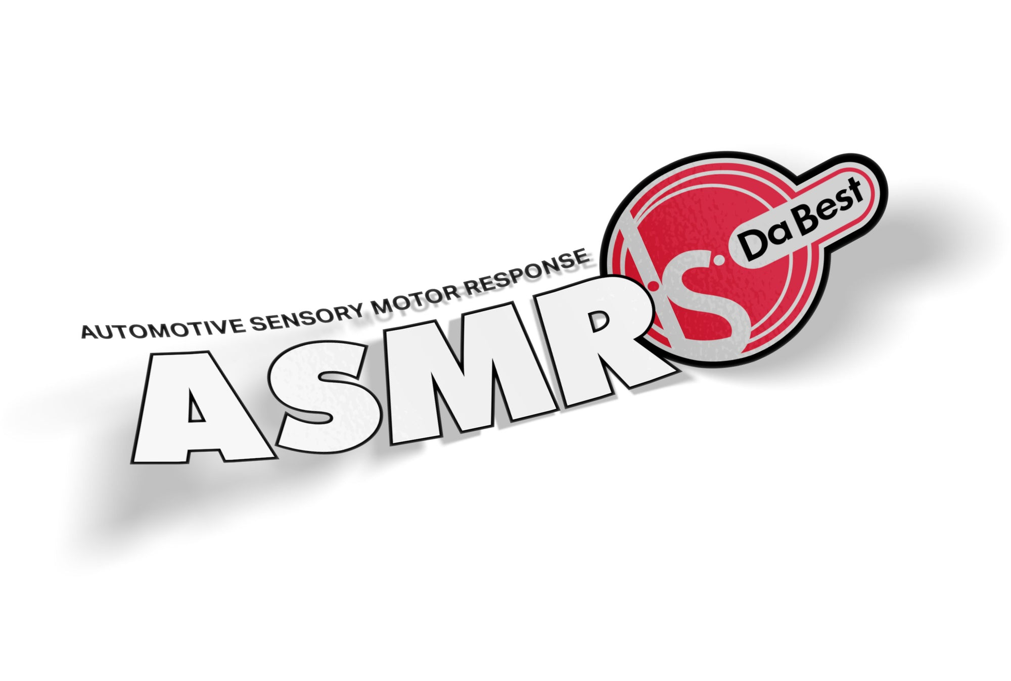 logic limited corp ASM Yokohama parody sticker asmr is da best Automotive joke sticker original