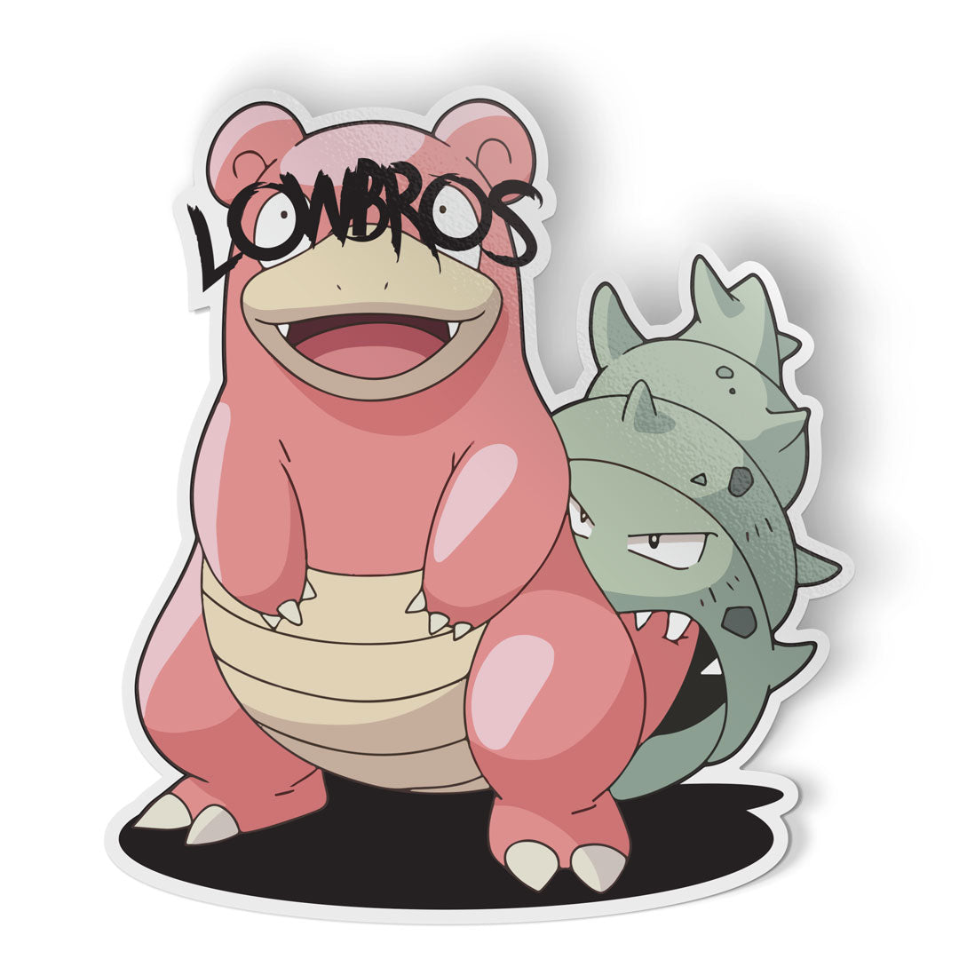 logic limited corp pokemon slowbro lowbros parody sticker nintendo games