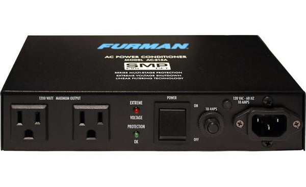 Furman AC-215A Compact Power Conditioner with Auto-Resetting Voltage Protection