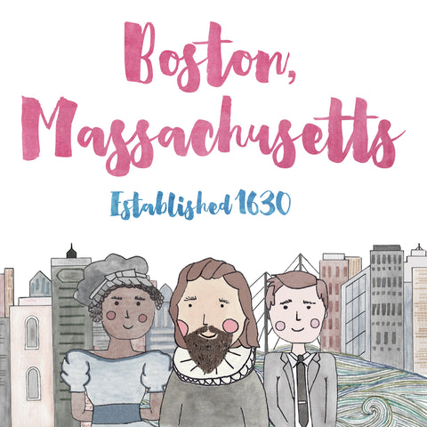 Boston Established 1630 Print