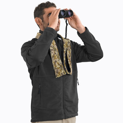 Ample padding distributes binoculars' weight around the neck, for comfortable extended carrying.