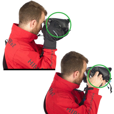 Enables quick shooting even with gloves, while rain cover is completely closed.
