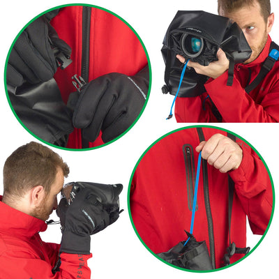 All connecting parts are designed for use with gloves too, so you can easily use agua in cold and wet weather.