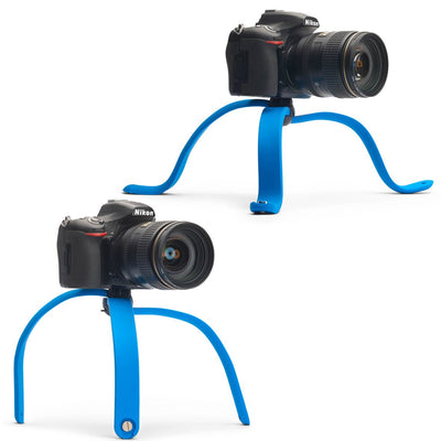 A stable and flexible tripod: supports even large DSLRs with long lenses, on almost any surface.