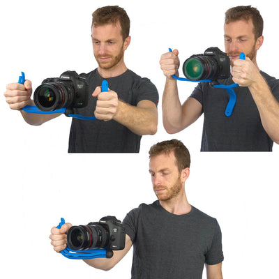 Video Rig - Three grip modes give videographers a steady hold for their VDSLRs.