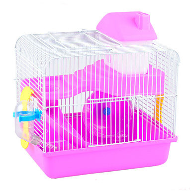 Rodents / Rabbits / Chinchillas Plastic Multi-function / Foldable Cages Coffee / Blue / Pink