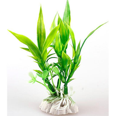 Aquarium Decoration Ornament / Waterplant washable / Non-toxic & Tasteless / Decoration Plastics