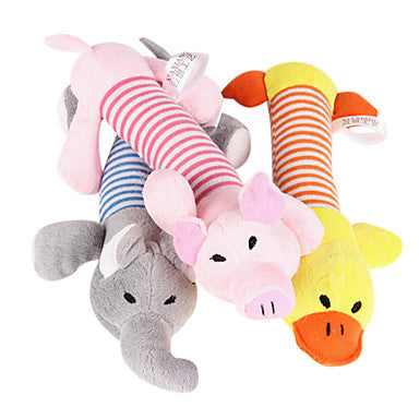 Plush Toys Cartoon Squeak / Squeaking Plush For Cat Dog