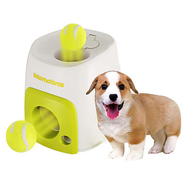 Ball Interactive Food Dispenser Tennis Ball Plastic For Dog Toy