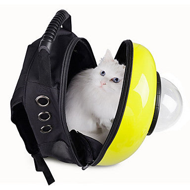Cat Dog Carrier & Travel Backpack Astronaut Capsule Carrier Pet Carrier Portable Breathable Cute Solid Colored Rose Green Blue