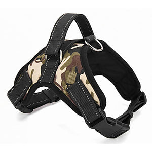 Cat Dog Harness Padded Adjustable / Retractable Solid Textile Red Camouflage Color Leopard