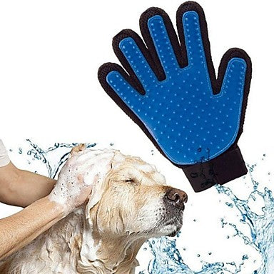 Pet Dog brush Glove Deshedding Gentle Efficient Pet Grooming Glove Bath Cat cleaning Supplies Glove Hair Remove