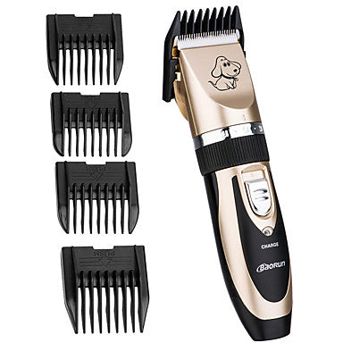 Cat Dog Grooming Clipper & Trimmer Wireless Low Noise Electric Rechargeable Gold