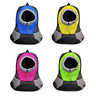 Cat Dog Carrier & Travel Backpack Pet Baskets Solid Colored Portable Breathable Green Blue Pink For Pets
