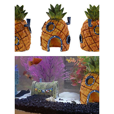 Aquarium Decoration Ornament Cartoon Resin