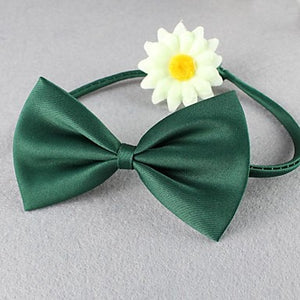 Cat Dog Collar Adjustable / Retractable Bowknot Textile Green Blue Wine