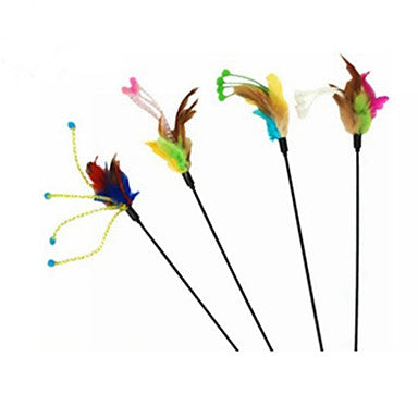 Teaser Feather Toy Stick Textile For Cat Toy