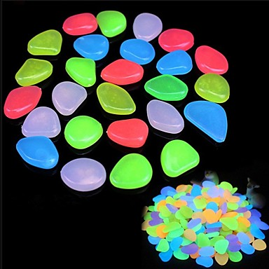 100G Artificial Night Light Pebbles Luminous Pebble Stone Fish Tank Light-emitting Decor Aquarium Decoration Stone