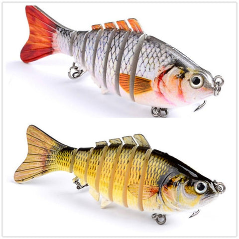 1 pcs wobblers iscas de pesca multi-seção isca dura 100mm15g isca artificial minnow crankbait jig perch carpa pesca lure