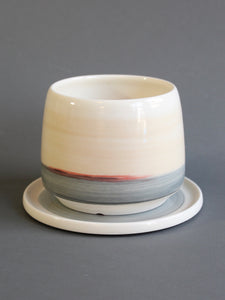 Medium Planter with Saucer