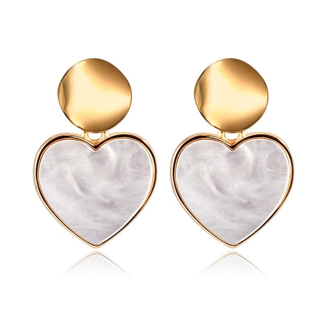 Darling Heart Gold Earrings