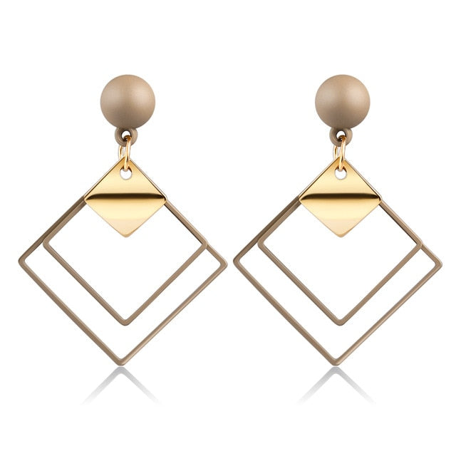 Party Square Earrings