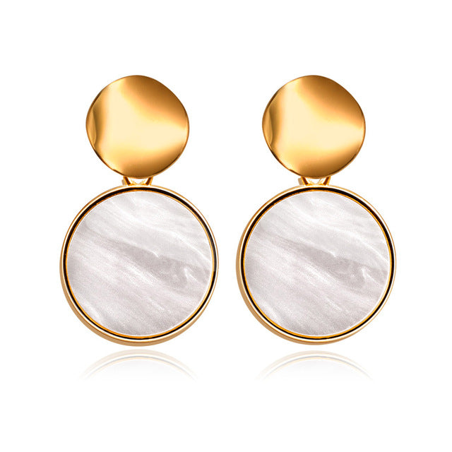 Circle Unblemished Gold Earrings