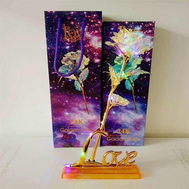24K Foil Plated Galaxy Rose