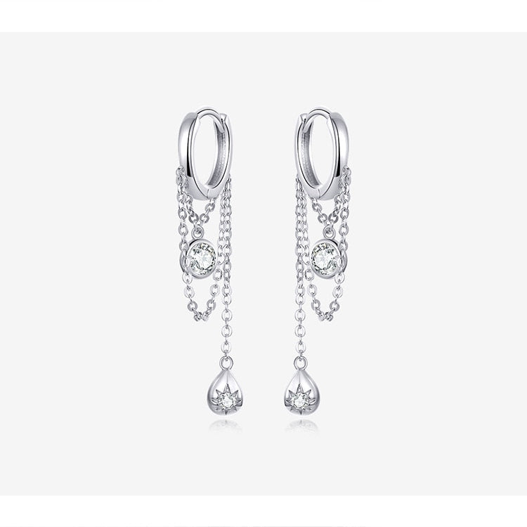Glam Waterdrop Dangle Earrings
