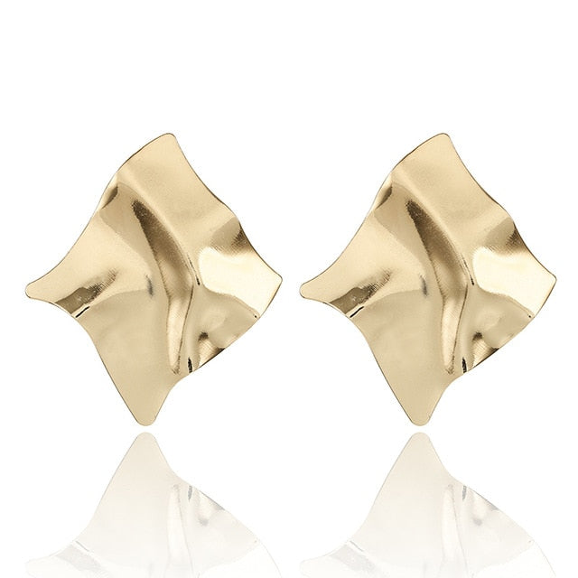 Geometric Square Gold Earrings