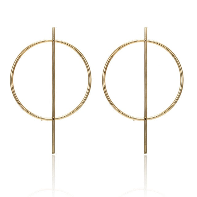 Attention Gold Hoop Earrings