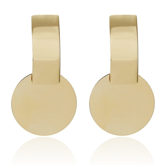 Luxurious Drop Gold Earrings