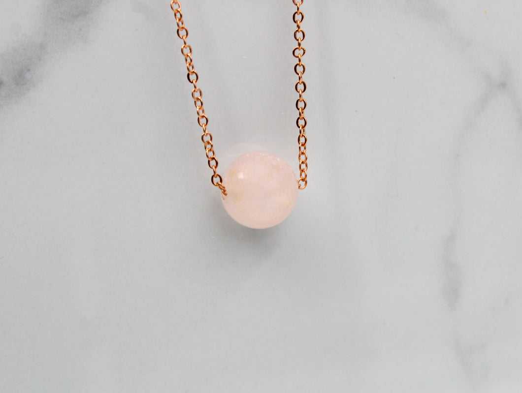 Dainty Rose Quartz Necklace - Empire Gems International