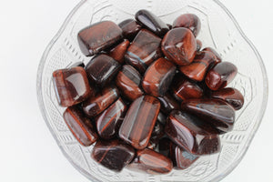 Red Tigers Eye Tumbled Stone