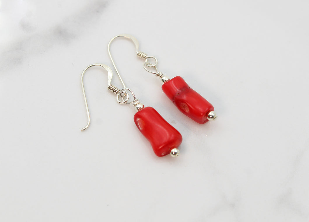 Natural Coral Earrings - Empire Gems International