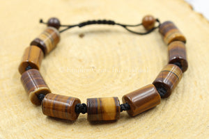 Adjustable Tigers Eye Bead Bracelet