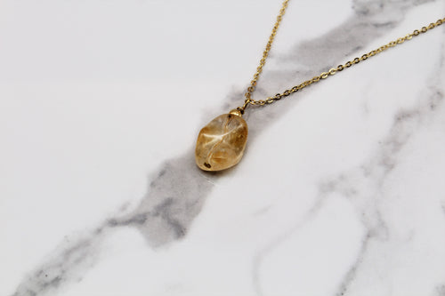 Dainty Sunset Citrine Pendant