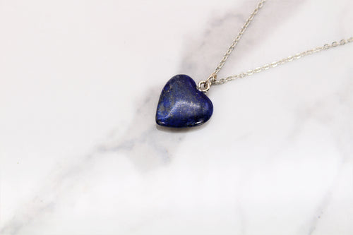 Dainty Royal Blue Lapis Heart - Empire Gems International