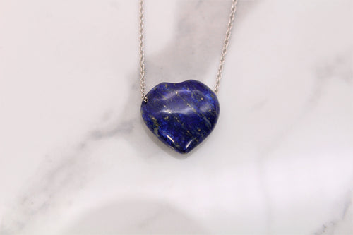 Royal Blue Lapis Heart Pendant - Empire Gems International