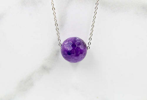 Amethyst Bead Pendant - Empire Gems International