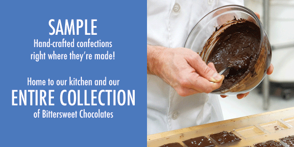 Our Bittersweet Chocolates are handcrafted right here in San Francisco!