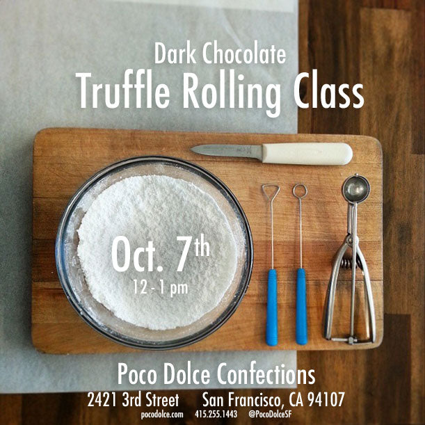 Roll Dark Chocolate Truffles with us on Manufacturing Day (Oct. 7th, 2016)