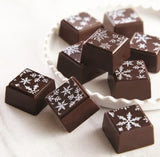 Olive Oil Truffles with Snowflake designs for winter