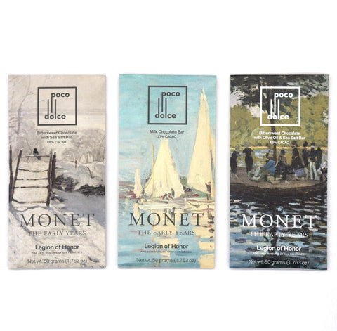 Claude Monet and Legion of Honor Chocolate Bars