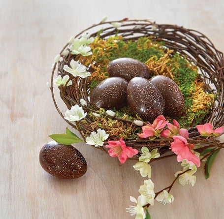 Handmade Chocolate Easter Eggs designed with an all-natural Organic Cocoa Butter nestled in their own clear carton of 6 or 12