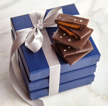 A trio of our most popular Bittersweet Chocolate Tile Boxes