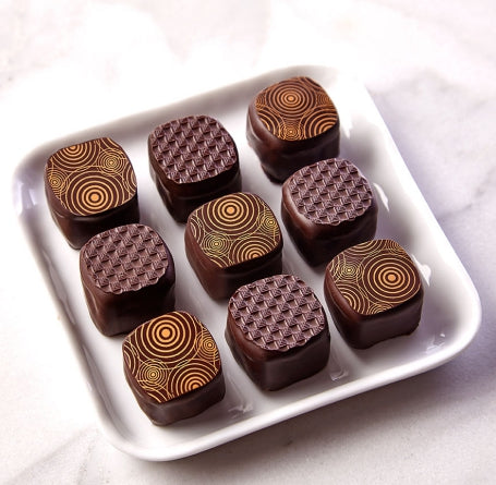 Dark chocolate Champagne and Strawberry Balsamic Truffles